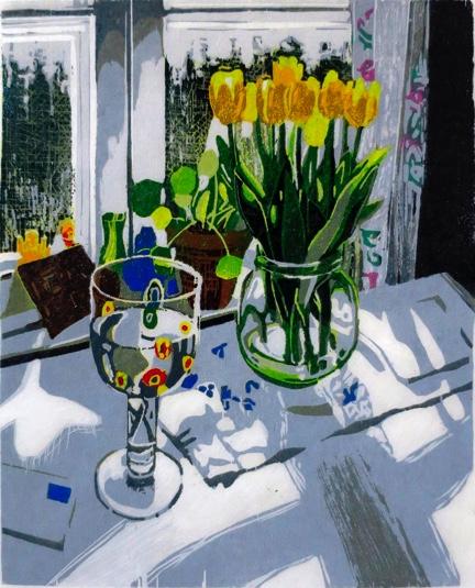 Teija Lehto, Pieni kauneus, 2021, puupiirros, 17 x 14 cm